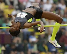 Olympic athletes AMAZE ME.  Chaunte Lowe competes in the women's high jump final at the U.S. Olympic Track and Field Trials.