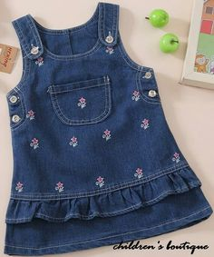 new fashion baby girls denim princess dress Embroidered kids overalls jeans summer casual dress for girls Baby Girl Fashion, Toddler Fashion, Kids Fashion, Denim Frocks, Kids Overalls, Sewing Kids Clothes, Girls Casual Dresses, Kids Frocks, Baby Dress