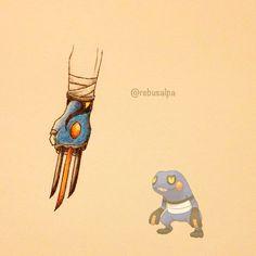 Pokeapon No. 453 - Croagunk. #pokemon #croagunk #claws #pokeapon