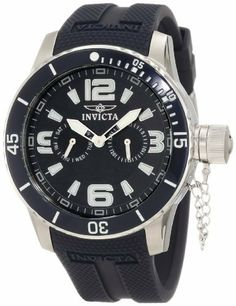 Invicta Men's 1791 Specialty Navy Blue Textured Dial Navy Blue Silicone Watch Invicta. $109.99. Navy dial with silver tone and white hands, hour markers and arabic numerals; luminous; unidirectional stainless steel bezel with navy blue ring and white arabic numerals; secured screw-down cap on crown. Japanese quartz movement. Flame-fusion crystal; brushed and polished stainless steel case; navy blue silicone strap. Day and date subdials. Water-resistant to 100 M (330 feet)