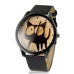 black cat fashion quartz watch women ladies kids wristwatch cute hour good quality?watch