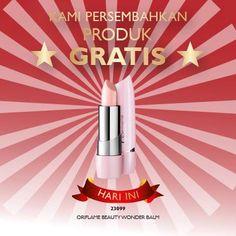 Lindungi bibir dari kekeringan dengan Beauty Wonder Lip Balm. Khusus hari ini bisa didapatkan secara gratis dengan melakukan pembelanjaan Rp 275.000 :)