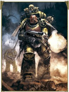 Imperial Fist - Space Marine Warhammer 40k Rpg, Warhammer Fantasy, Imperial Fist, Space Wolves, The Grim, Marvel, Space Marine, Sci Fi Fantasy, Artwork