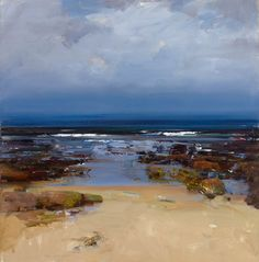 landscape art by ken knight Seascape Paintings, Landscape Paintings, Oil Paintings, Beach Scenes, Beach Art, Beautiful Paintings, Abstract Landscape, Art Oil, Painting Inspiration