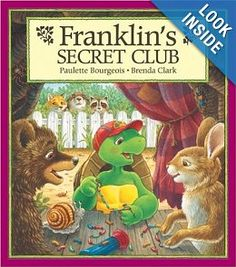 Barnes & Noble Nook eBook: Franklin's Secret Club, written by Paulette Bourgeois and illustrated by Brenda Clark Franklin And Friends, Franklin The Turtle, Turtle Book, Franklin Books, Friend Book, Vintage Drawing, Reading Rainbow, Club, Book Nooks