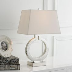 "Keyhole Ring Table Lamp 20""Hx13""Wx8""D 75 watts. Hi/low switch."