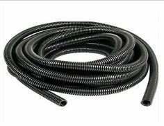 10m WhiteConduit Split Plastic Flexible Cable Tidy Solution Tube Trunking 13mm