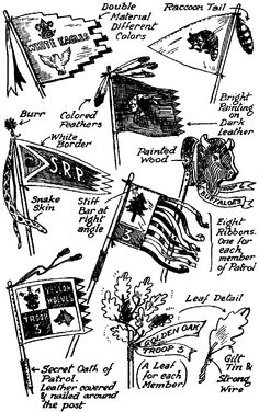 Vintage Boy Scout Patrol Flags Ideas from the Boy Scout Handbook