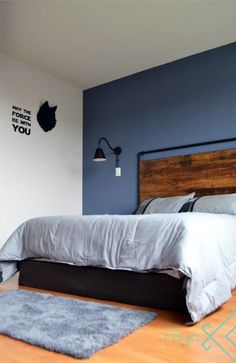 Home Decorating Websites Stores Blue Bedroom Walls, Blue Rooms, Small Apartment Interior, Modern Bedroom Decor, Aesthetic Room Decor, Boys Room Decor, Cheap Home Decor, Interior Design, Decorating Websites