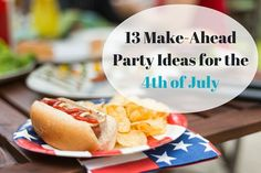 make ahead 4th of july food