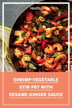 What's for dinner tonight? Follow these simple instructions for a satisfying and delicious meal any day of the week! #healthyrecipes #shrimp Crab Cake Recipes, Sauce Recipes, Seafood Recipes, Shrimp Vegetable Stir Fry, Lemon Butter Shrimp, Ginger Sauce, Healthiest Seafood, Seafood Pasta, Healthy Grilling