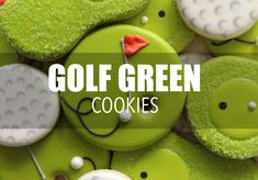 Learn how to decorate golf green cookies with royal icing _______________________________________________________________________________ For written step by...