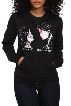 MY CHEMICAL ROMANCE DEMO LOVERS GIRLS ZIP HOODIE - OMG I want this totally old school MCR