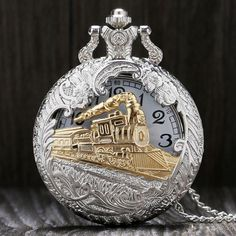Selling out fast! Charming Gold Train Carved Steampunk Pocket Watch Necklace Unisex http://emily-brooks-jewelry.myshopify.com/products/vintage-silver-charming-gold-train-carved-openable-hollow-steampunk-quartz-pocket-watch-men-women-necklace-pendant-clock-gifts?utm_campaign=crowdfire&utm_content=crowdfire&utm_medium=social&utm_source=pinterest