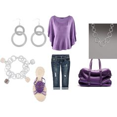 The Color of Purple, created by tracey-puckett on Polyvore