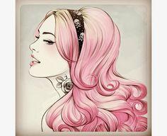 desenho de meninas de cabelo cacheado - Pesquisa Google