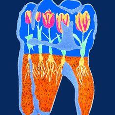 #tooth #terrarium #redbubble #humantooth #tulips #flower #plants #teeth #humanteeth