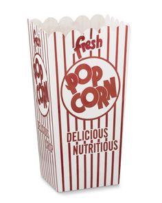 Popcorn box RETRO open top  party Bar Mitzvah by PartySurprise