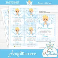 Nuevos kits imprimibles Angelitos | Tarjetas Imprimibles