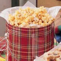 """Vanilla Popcorn Recipe- Recipes """"This sweet crunchy snack is my family's favorite,"""" writes Carolyn Roney of Scipio Center, New York. """"For variety, substitute almond extract or maple flavoring or add nuts for extra crunch. Popcorn Snacks, Popcorn Balls, Candy Popcorn, Free Popcorn, Cheese Popcorn, Flavored Popcorn, Cinnamon Popcorn, Vanilla Recipes, Gourmet Popcorn"""