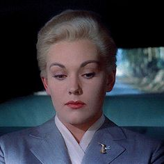 Kim Novak and James Stewart in Vertigo  (Alfred Hitchcock, 1958)