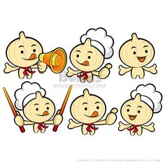 다양한 활용이 가능한 요리사 마늘 마스코트 세트. 식품과 마켓 캐릭터 디자인 시리즈. (BCDS010510)  Flexibility as possible a set of Cook Garlic Mascot. Food and Market Character Design Series. (BCDS010510)  Copyrightⓒ2000-2013 Boians.com designed by Cho Joo Young.