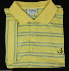 Augusta Masters COLLECTION  Logo S/S Polo Golf Shirt XL Yellow RUGBY SZ XL #Masters #ShirtsTops