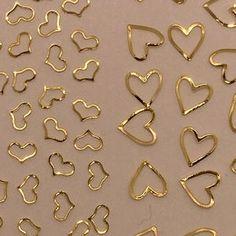 Tiny gold and black hearts nail tattoos / Valentines day nail | Etsy Nail Decals, Nail Stickers, Bee Nails, Acrylic Nail Tips, Metallic Nail Polish, How To Cut Nails, Nail Tape, Nail Tattoo, Heart Chain