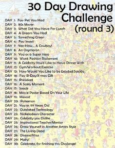 another 30 day challenge