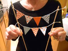 How to make bunting for your birthday cake!