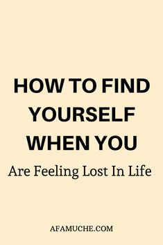 We all feel lost sometimes in our lives. Here's how to find yourself when you feel lost & unmotivated Learning To Love Yourself, Finding Yourself, Feeling Lost, How Are You Feeling, Finding Purpose In Life, When You Feel Lost, Destiny Quotes, Lost In Life, Change Mindset