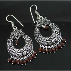 Acrylic Brown Beaded Silvertone Brass Metal Jhumka Earring Set Fashion Jewelry Brass Metal, Earring Set, Crochet Earrings, Fashion Jewelry, Brown, Women, Trendy Fashion Jewelry, Brown Colors, Costume Jewelry