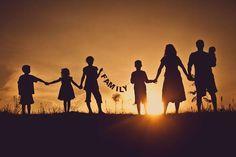 Rodinné focení | siluety v západu slunce | inspirace