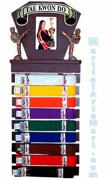 Taekwondo Deluxe Picture Frame & Ranking Belt Display $37.99  martialartsmart.com