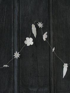caroline swift - porcelain flower garland