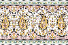 Border Pattern, Border Design, Pattern Design, Print Design, Box Wedding Invitations, Native American Patterns, Border Embroidery Designs, Vintage Borders, Textiles Techniques