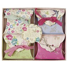 floral wedding favour boxes by lilac coast weddings   notonthehighstreet.com