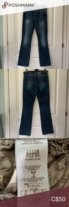 """🌟GUESS by Marciano jeans size 27 GUESS by Marciano bootcut jeans, size 27 with 30.5"""" inseam. Some wear on back of bottom hem, as photographed. Guess by Marciano Jeans Boot Cut"""