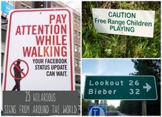 Hilarious Signs From around the World | 25 Hilarious Signs from Around the World