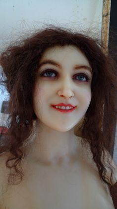 French Antique Stunning Wax Mannequin with Glass Eyes and Teeth | eBay