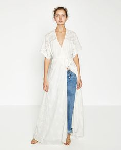Image 1 of LONG CROSSOVER DRESS from Zara