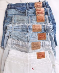 Shop Levi's 501 Indigo Denim Shorts at Urban Outfitters today. Cute Casual Outfits, Chic Outfits, Summer Outfits, Fashion Outfits, Denim Vintage, Nike Tech Fleece, Clothing Photography, Teen Fashion, Pants For Women