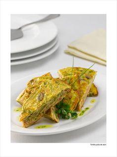 Tortilla de porotos verdes y atún Tapas, Mexican, Ethnic Recipes, Bowl, Tortillas, Healthy Food, Ethnic Food, Cake Borders, Stir Fry