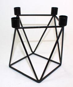 House Doctor Kerzenleuchter 4 Kerzen Triangle schwarz Advent Design Interior NEU