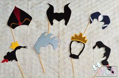 Disney Villains Inspired Photo Booth Props | Maleficent | Jafar | Lady Tremaine | Queen of Hearts | Ursula | Evil Queen | Gaston