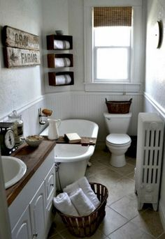 02 Cool Small Farmhouse Bathroom Remodel Design Ideas