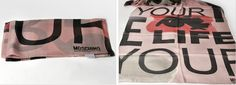 Light pink_Moschino Typo graphy Scarf