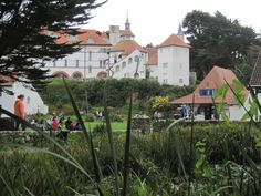 Caldey Island Monastery, off the Tenby coast.  A place for shopping, sending postcards or just quiet contemplation.