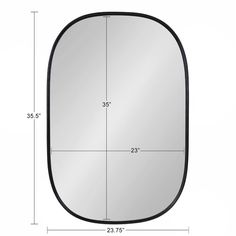 Foundstone Stuart Edged Frame Beveled Wall Mirror & Reviews | Wayfair Stuart Edge, Rounded Rectangle, Ornate Mirror, Beautiful Mirrors, Modern Rustic Interiors, Frames On Wall, Framed Wall, Minimalist Decor, Mid-century Modern