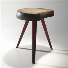 Jean Prouve and Charlotte Perriand stool no.